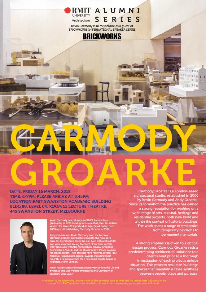 CARMODY GROARKE PUBLIC LECTURE - RMIT Architecture