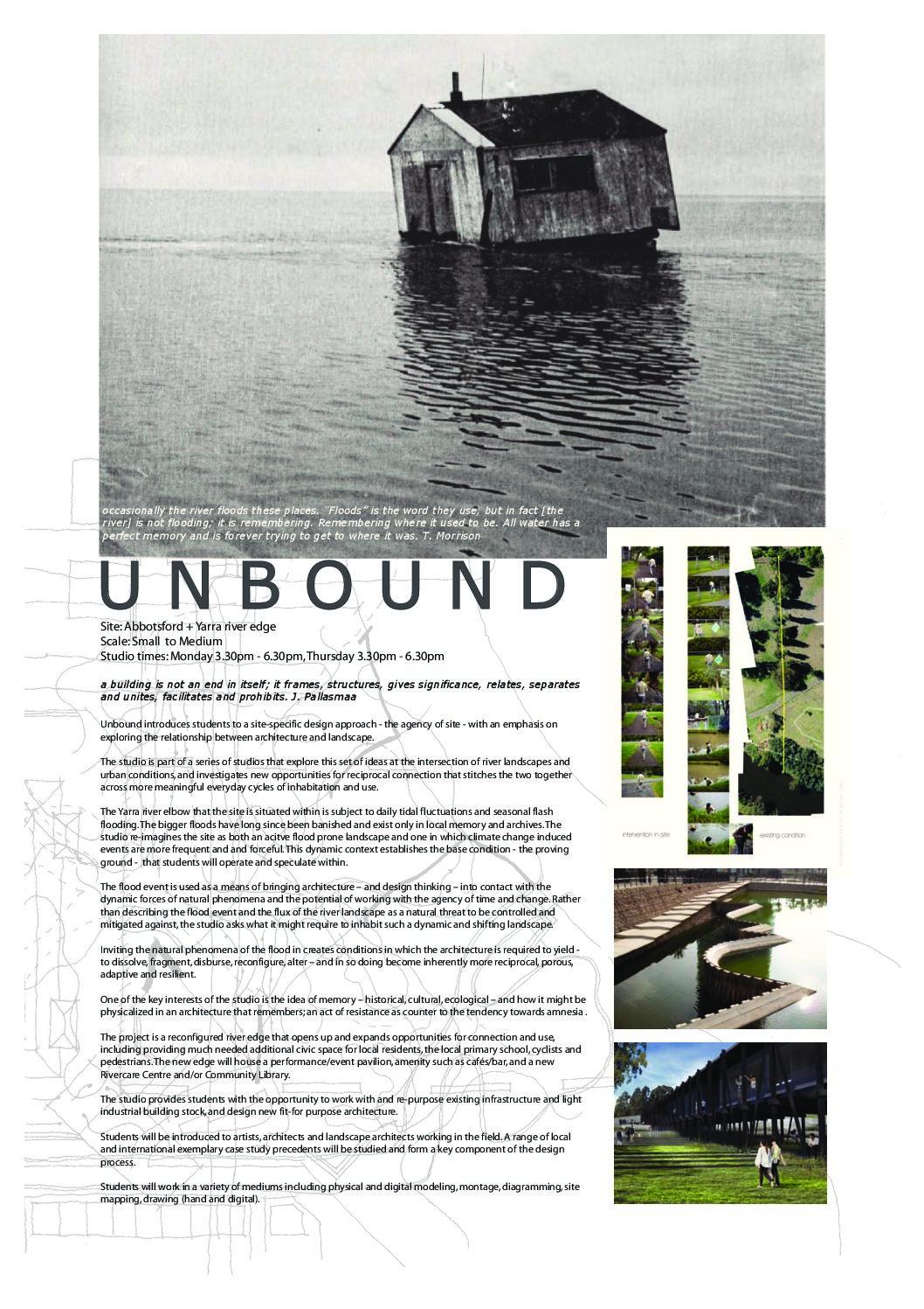 unbound rmit architecture and urban design